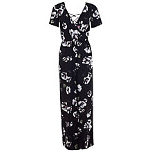 Buy Miss Selfridge Floral Print Lace Back Jumpsuit, Multi Online at johnlewis.com
