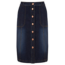 Buy Mint Velvet Denim Midi Skirt, Blue Online at johnlewis.com