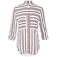Buy Miss Selfridge Variated Stripe Shirt, Multi Online at johnlewis.com