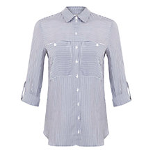 Buy Miss Selfridge Striped Shirt, Mid Blue Online at johnlewis.com