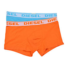 Buy Diesel Stretch Cotton Logo Trunks, Pack of 2, Blue/Orange Online at johnlewis.com
