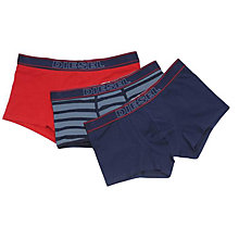 Buy Diesel Ohaak Stretch Cotton Trunks, Pack of 3 Online at johnlewis.com