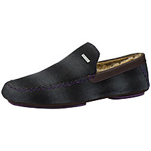 Buy Ted Baker Graysan Check Slippers, Dark Grey Online at johnlewis.com