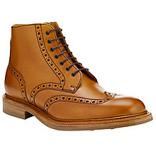 Buy JOHN LEWIS & Co. Made in England Leather Brogue Boots, Tan Online at johnlewis.com