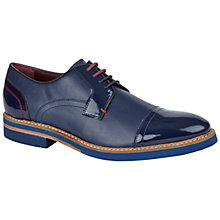 Buy Ted Baker Braythe Textured Leather Derby Shoes, Dark Blue Online at johnlewis.com