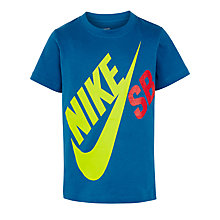 Buy Nike SB Boys' Big Logo T-Shirt, Blue Online at johnlewis.com