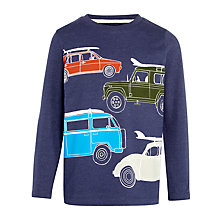 Buy John Lewis Boy Four Car Long Sleeve T-Shirt, Blue Marl Online at johnlewis.com