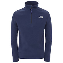 Buy The North Face Boys' Glacier Half Zip Fleece, Blue Online at johnlewis.com