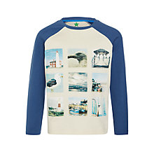 Buy John Lewis Boy Seagull Photo Long Sleeve T-Shirt, Blue/Grey Online at johnlewis.com