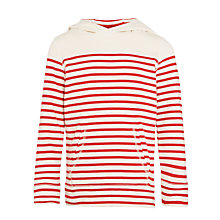 Buy John Lewis Boy Stripe Hoodie, Red/White Online at johnlewis.com