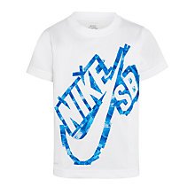 Buy Nike SB Boys' Tape Logo Dri-Fit T-Shirt, White Online at johnlewis.com