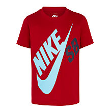 Buy Nike SB Boys' Big Logo T-Shirt, Red Online at johnlewis.com