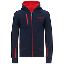 Buy Hackett London Boys' Aston Martin Zip Through Hoodie, Navy Online at johnlewis.com
