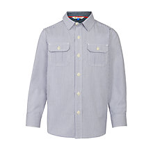 Buy John Lewis Boys' Utility Stripe Shirt, Blue Online at johnlewis.com