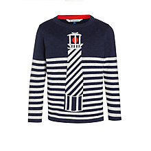 Buy John Lewis Boys' Lighthouse Stripe Jumper, Navy/Cream Online at johnlewis.com