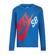 Buy Nike SB Boys' Big Logo Long Sleeve T-Shirt Online at johnlewis.com