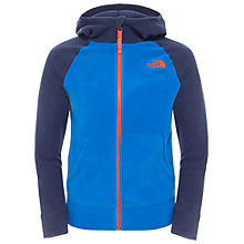Buy The North Face Boys' Glacier Full Zip Hoodie, Blue Online at johnlewis.com