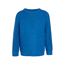 Buy John Lewis Boys' Raglan Crew Jumper, Blue Online at johnlewis.com