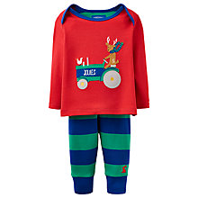 Buy Baby Joule Reindeer Tractor Top and Trouser Set, Red/Multi Online at johnlewis.com
