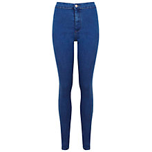 Buy Miss Selfridge Denim Steffi High Waist Jeans, Mid Wash Online at johnlewis.com