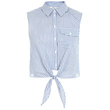 Buy Miss Selfridge Tie Front Stripe Shirt, Multi Online at johnlewis.com