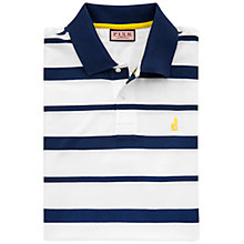 Buy Thomas Pink Edwin Stripe Polo Shirt, White/Navy Online at johnlewis.com