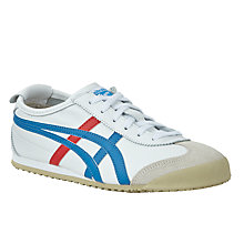 Buy Onitsuka Tiger Mexico 66 Women's Trainers, White/Blue Online at johnlewis.com