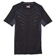 Buy Under Armour HeatGear Armour Exo Short Sleeve Compression Shirt, Black Online at johnlewis.com