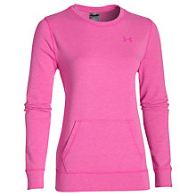 Buy Under Armour ColdGear Infrared Cosy Crew Top, Pink Online at johnlewis.com