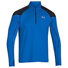 Buy Under Armour ColdGear Infrared Chrome 1/2 Zip Running Top, Blue Online at johnlewis.com