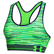 Buy Under Armour HeatGear Alpha Printed Sports Bra, Green Online at johnlewis.com