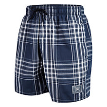 "Buy Speedo Check Leisure 16"" Swim Shorts, Navy Online at johnlewis.com"