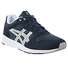 Buy Asics Shaw Runner Men's Trainers, Navy/Grey Online at johnlewis.com