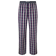 Buy BOSS Check Woven Cotton Lounge Pants, Blue/Purple Online at johnlewis.com
