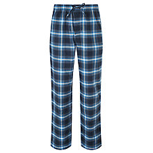 Buy BOSS Brushed Check Cotton Lounge Pants, Blue Online at johnlewis.com