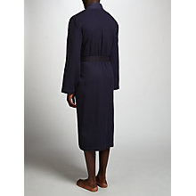 Buy BOSS Waffle Cotton Mix Robe, Navy Online at johnlewis.com