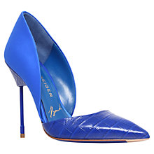 Buy Kurt Geiger Bond B Series Leather Cigarette Heel Court Shoes Online at johnlewis.com