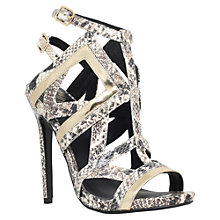 Buy KG by Kurt Geiger Indiana High Heel Cut Out Sandals Online at johnlewis.com