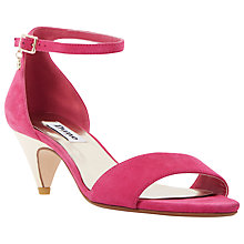 Buy Dune Marina Kitten Heel Two Part Sandals Online at johnlewis.com
