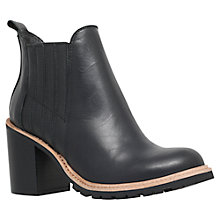 Buy KG by Kurt Geiger Saloon Block Heeled Ankle Boots, Black Online at johnlewis.com