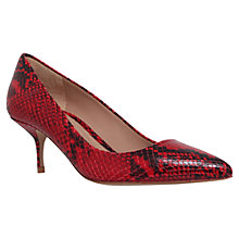 Buy Kurt Geiger Tiarella Kitten Heel Court Shoes, Red Online at johnlewis.com