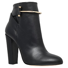 Buy Kurt Geiger Dover Block Heeled Ankle Boots, Black Leather Online at johnlewis.com