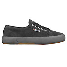 Buy Superga 2750 Flat Lace Up Trainers, Grey Suede Online at johnlewis.com