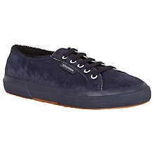 Buy Superga 2750 Flat Lace Up Trainers, Navy Pony Online at johnlewis.com