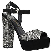 Buy Kurt Geiger Oakley Chunky Platform Sandals, Silver Comb Online at johnlewis.com