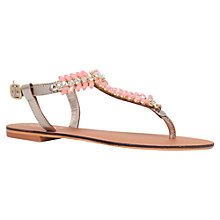 Buy Carvela Bianca Leather Embellished Sandals, Pink Online at johnlewis.com