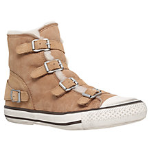 Buy Kurt Geiger Lizzy Side Strap High Top Trainers Online at johnlewis.com