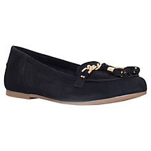 Buy KG by Kurt Geiger Lincoln Suede Tassel Moccasin Loafers, Black Online at johnlewis.com