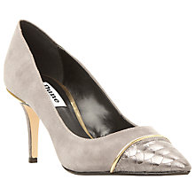 Buy Dune Bellina Stiletto Heeled Court Shoes, Grey Suede Online at johnlewis.com