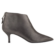 Buy Jigsaw Agnes Suede Pointed Ankle Boots, Black Online at johnlewis.com
